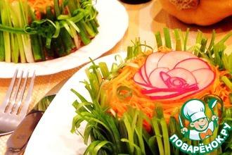 Рецепт: Салат из корневых овощей в пряном маринаде