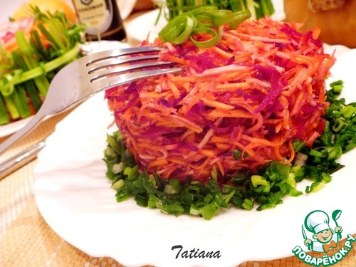 Салат свекла в маринаде