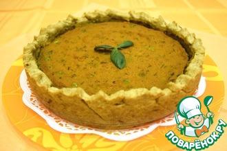 Рецепт: Постный тыквенный тарт с зеленым горошком