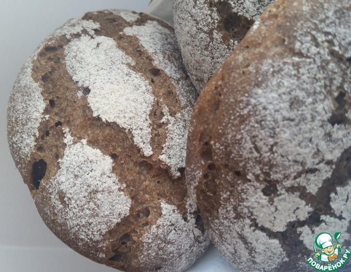 Рецепт: Порционный ржаной заварной хлеб на закваске