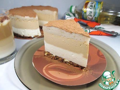 """Торт-суфле """"Кофе Латте"""" – кулинарный рецепт"""