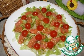 Рецепт: Салат с красной рыбой Легкий