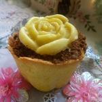 Пирожное Цветочный горшочек