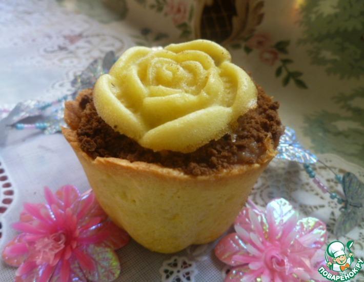 Рецепт: Пирожное Цветочный горшочек