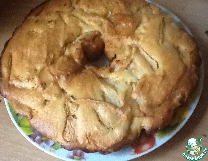 Рецепт: Пирог с творогом и яблоками без муки