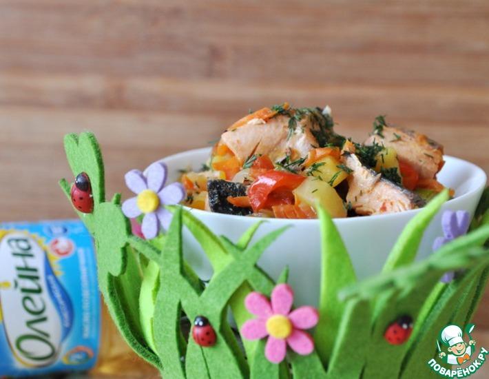 Рецепт: Кисло-сладкое рыбное рагу