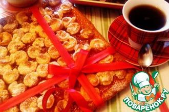 Рецепт: Уютный пирог с абрикосовым джемом