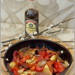 Теплый салат с овощами на гарнир