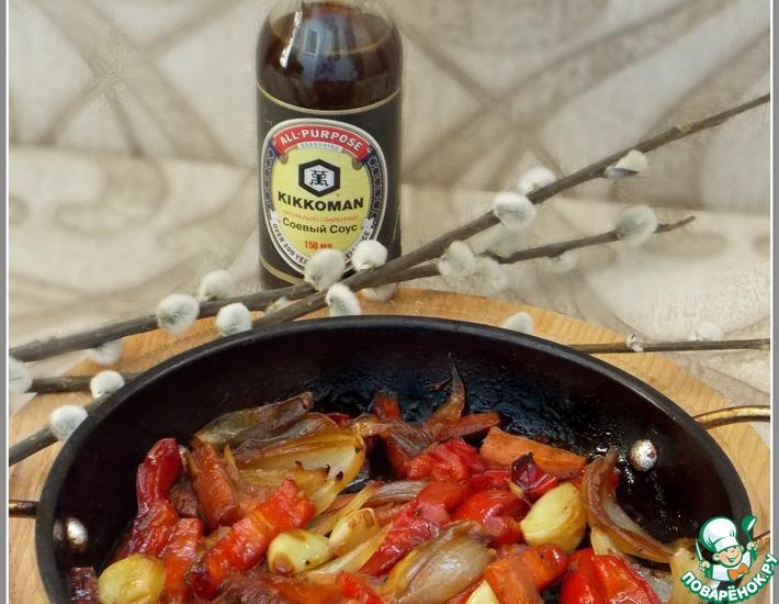 Рецепт: Теплый салат с овощами на гарнир