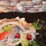Весенний салат с сельдью