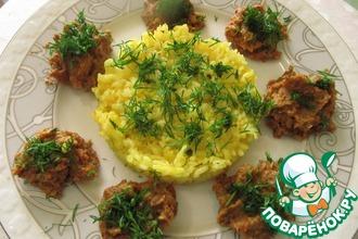 Рецепт: Золотистый рис с паштетом из маша