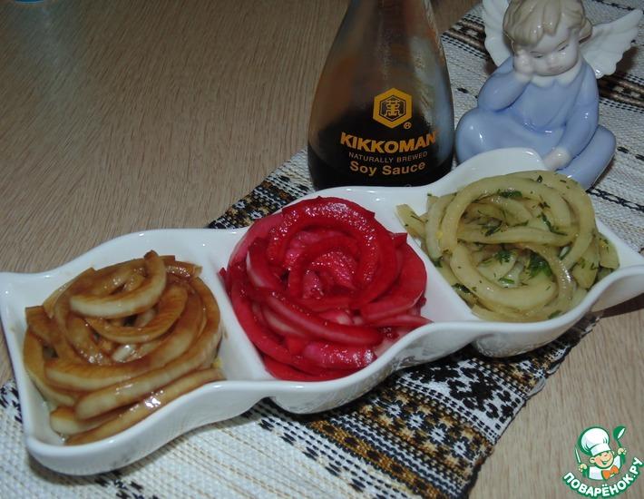 Рецепт: Маринованный лук Восточные краски