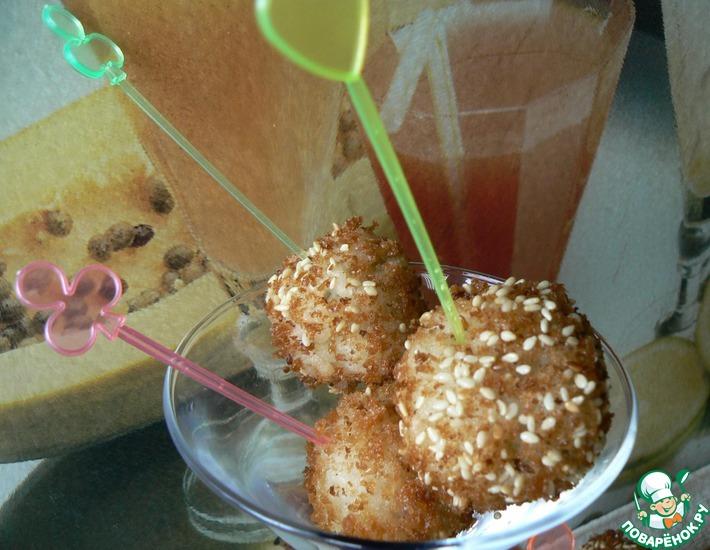 Рецепт: Рисовые шарики с сюрпризом