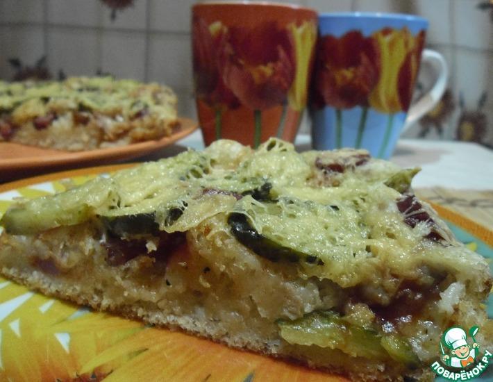 Рецепт: Пицца на постном дрожжевом тесте