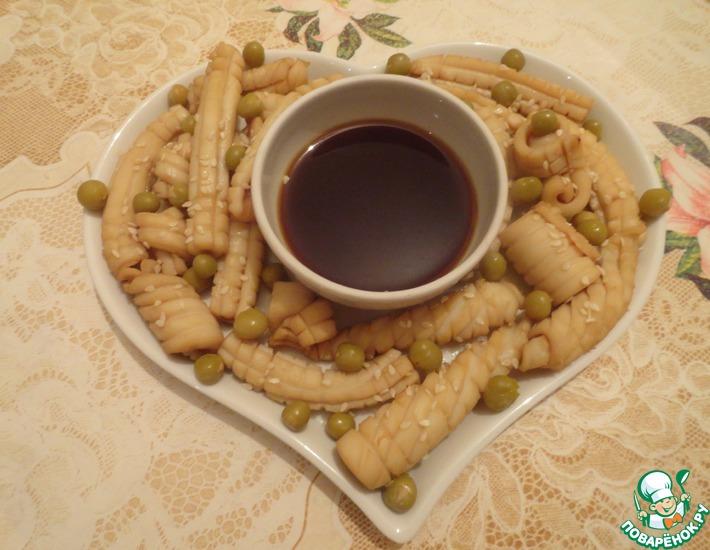 Рецепт: Кальмары в соевом соусе Окинава
