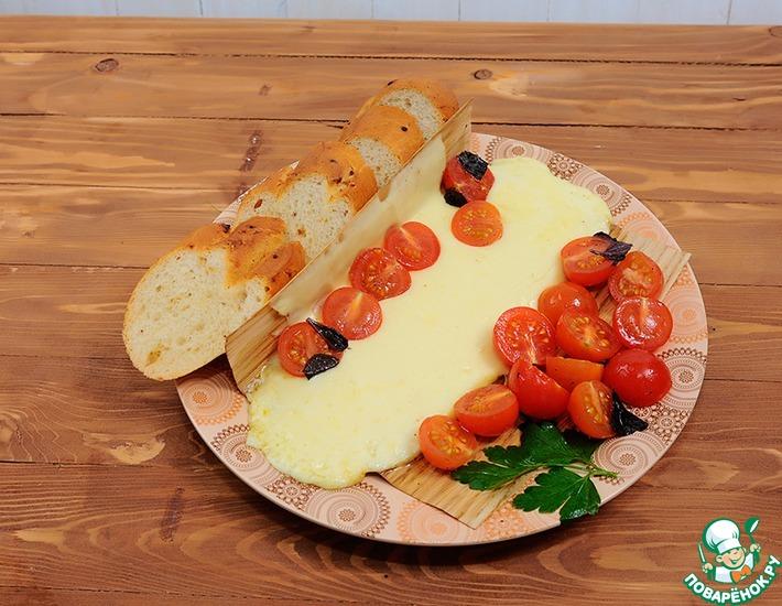 Рецепт: Плавленая закуска Капрезе