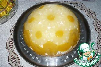 Рецепт: Торт ананасово-персиковый Купол