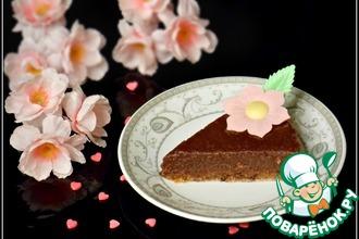 Рецепт: Сырой шоколадно-ореховый торт