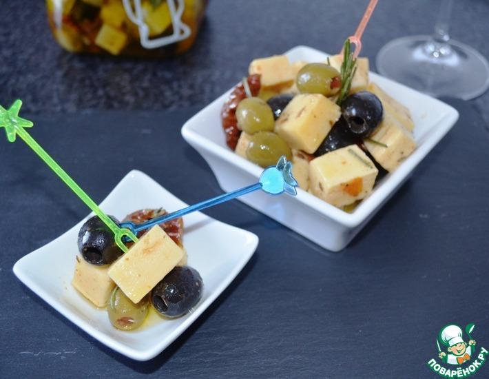 Рецепт: Маринованный сыр