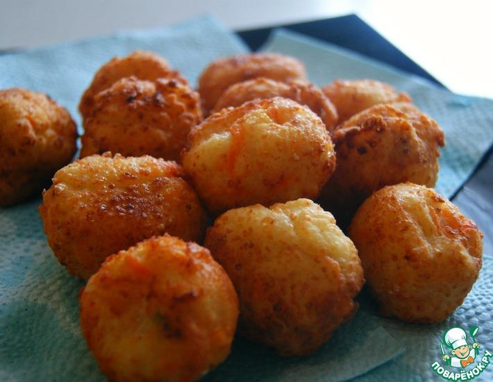 Рецепт: Творожно-морковные шарики