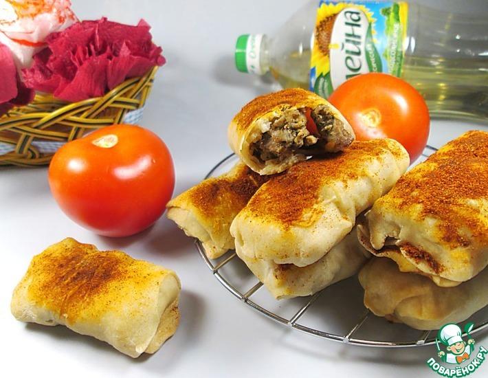 Рецепт: Пряные пирожки с маринованной индейкой