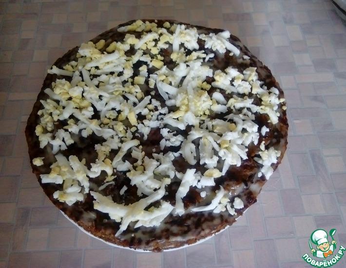 Рецепт: Торт из говяжьй печени