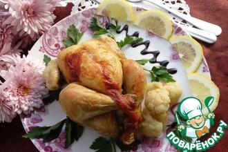 Рецепт: Цыплята корнишоны с гарниром