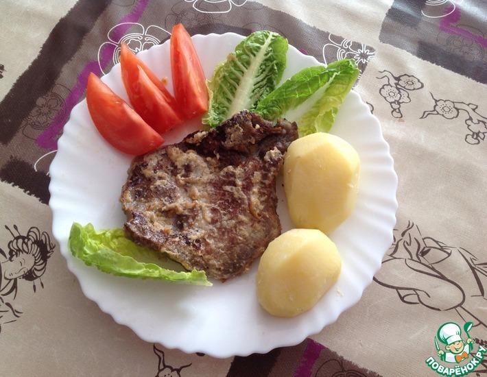 Рецепт: Свинина, запеченная в сметанно-луковом соусе