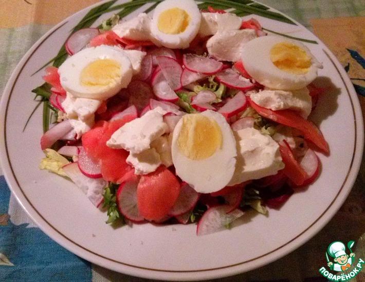 Рецепт: Салат с редисом и имбирем