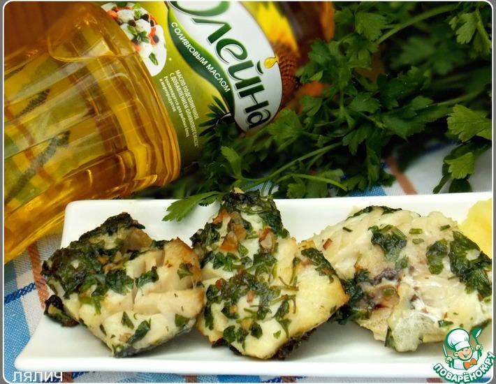 Рецепт: Рыба в зелено-чесночном соусе