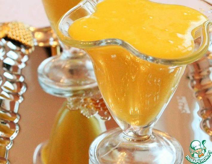 Рецепт: Апельсиново-миндальный десертный крем