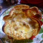 Картофельные блинные корзиночки с начинкой