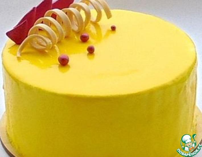 Рецепт: Торт Лимонно-малиновый