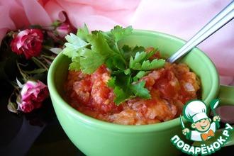 Рецепт: Очень густой томатно-хлебный суп