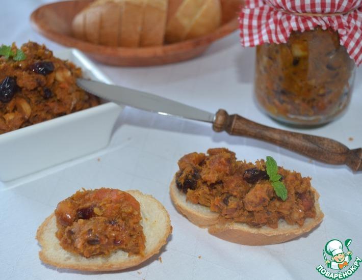 Рецепт: Овощной паштет из тыквы с орехами