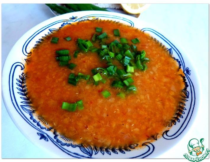Рецепт: Турецкий суп с красной чечевицей