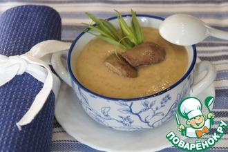 Рецепт: Суп-пюре из гречки с куриной печенью