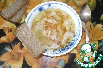 Рецепт: Суп куриный с домашней лапшой Деревенский