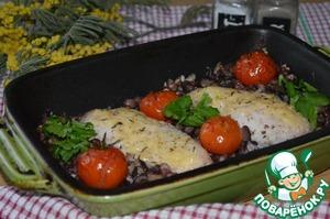 Рецепт Куриное филе, запеченное с фасолью и помидорами
