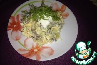 Рецепт: Легкий салат с сердечками