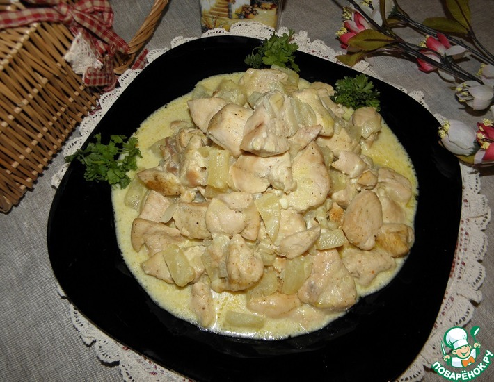 Рецепт: Куриное филе Сырное удовольствие