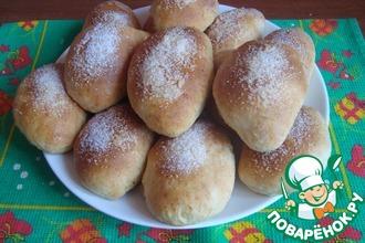 Рецепт: Творожные булочки с начинкой