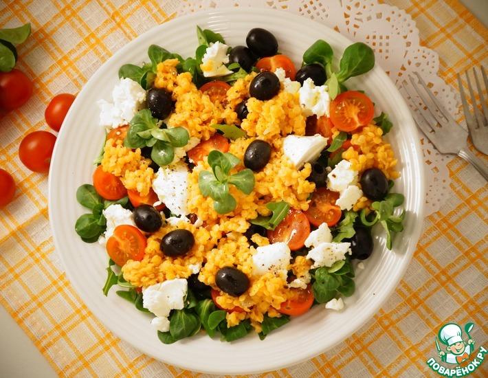 Рецепт: Салат с лимонной чечевицей