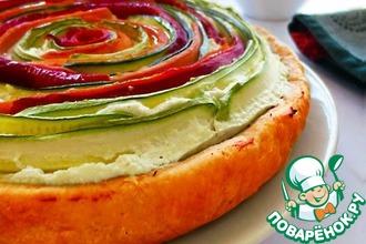 Рецепт: Провансальский пирог Овощная спираль