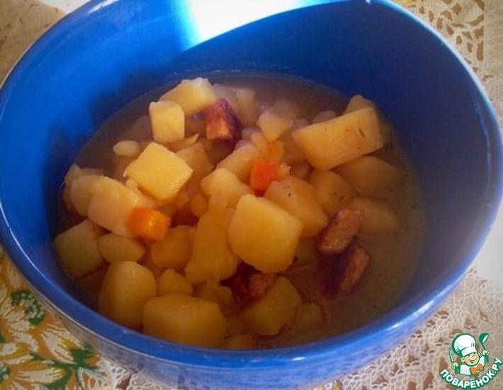 Рецепт: Тушеная свинина с картофелем в мультиварке