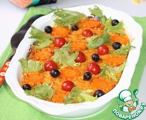 Delicious, hot and flavorful casserole is ready! To the casserole, you can submit a salad of fresh vegetables.   Bon appetit!