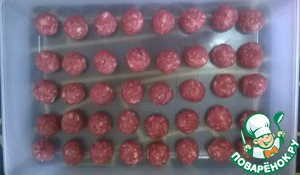 Formed meatballs (egg is not necessary, so keep a good shape). I have 40 pieces of 10 grams.