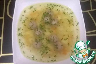 Рецепт: Суп с фрикадельками и сельдереем