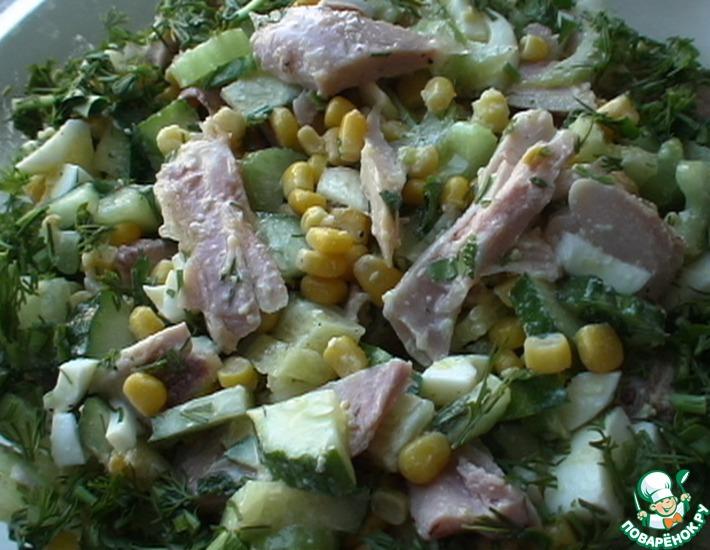 Рецепт: Салат Весна с окорочками