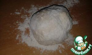 Gradually add flour and knead a soft dough